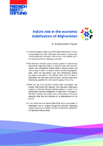 India's role in the economic stabilisation of Afghanistan