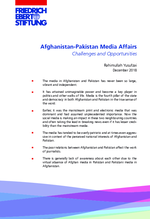 Afghanistan-Pakistan media affairs